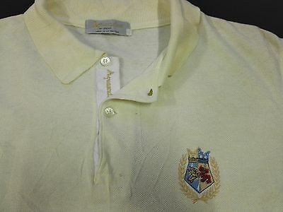 AQUASCUTUM LONDON POLO TEE SHIRT MADE IN GREAT BRITAIN M Casual Football Vtg