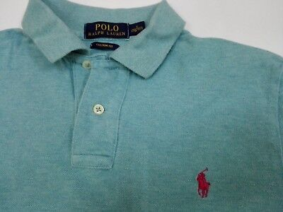 POLO RALPH LAUREN SMALL PONY SHIRT T S Custom Fit Bear Stadium Original RN41381
