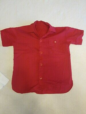 Vintage Texaco Little Boys Red Button Down Shirt