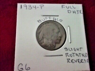 1934 Philadelphia Buffalo Nickel In Good Plus Condition With A Full Date