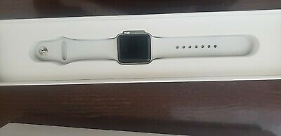 Apple Watch Series 3 38mm   Case White Sport Band - (MTGG2LL/A)