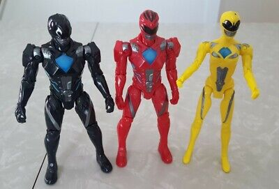 Power Rangers Movie 2017-17.5cm figures Pink Red and blue brand new