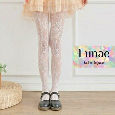 """42 /""""HIPS LACE TIGHTS FOOTLESS FLORAL  PATTERN ONE SIZE SUPER STRETCH SIZE 34/"""""""
