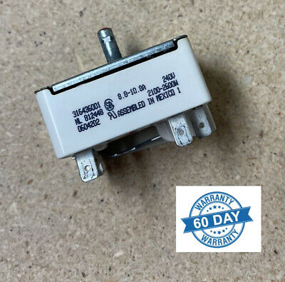 318220006 Frigidaire Electrolux Kenmore Surface Element Switch Type A