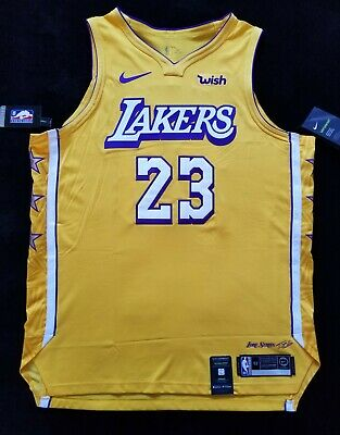 NIKE AUTHENTIC LAKERS Lebron James Jersey Lore Series City Edition ...