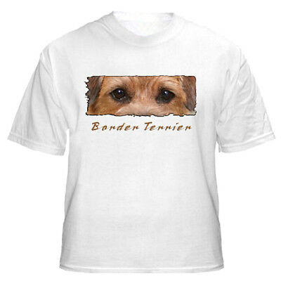 "Border Terrier    "" The Eyes Have It ""   Custom Made    T shirt"