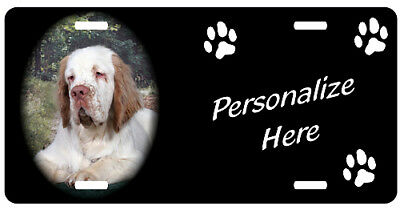 Clumber Spaniel, 2    Personalized Pet License Plate