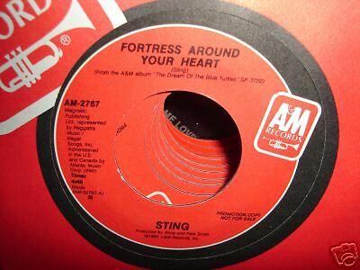 45 RPM Sting Fortress Around Your Heart Mint Promo