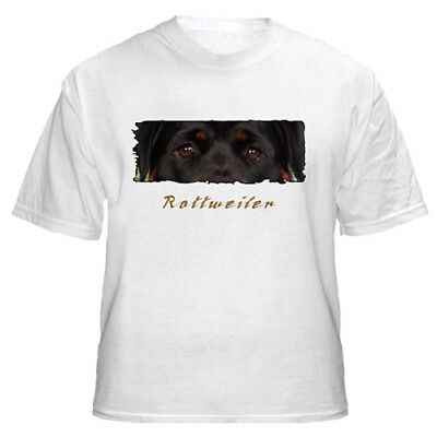 "Rottweiler  "" The Eyes Have It ""  Custom  Made  T shirt"