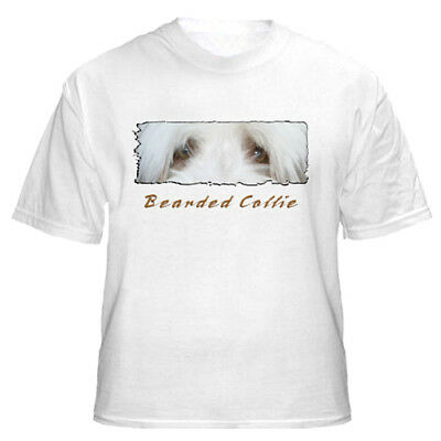 "Bearded Collie     "" The Eyes Have It ""   Custom Made    T shirt"