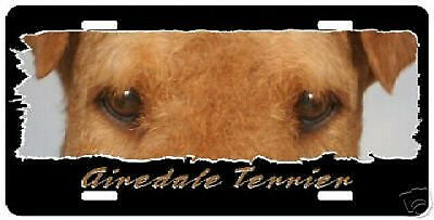 """Airdale """" The Eyes Have It """" License Plate"""