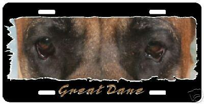 """Great Dane brindle # 2  """" The Eyes Have It """" Lic Plate"""
