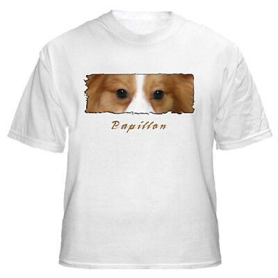 """Papillon   # 2   """" The Eyes Have It """"   Custom Made   T shirt"""