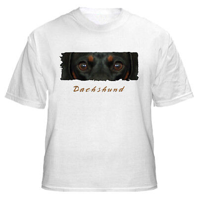 "Dachshund  blk & tan  # 1 "" The Eyes Have It ""  Tshirt"