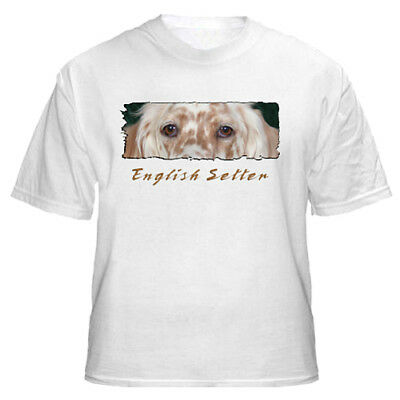 "English  Setter  # 2   orange  ""The Eyes Have It ""   T shirt"
