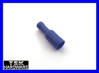 Blue Female Bullet Connectors ... 100 Pack  Crimp Connectors