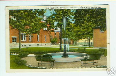 Fountain Manchester Colege North Manchester IN Wabash