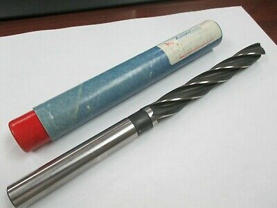 New 21/32 Straight Shank 4-Flute Core Drill-USA Made