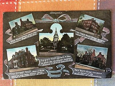 Buildings of Annapolis, Maryland Postcard
