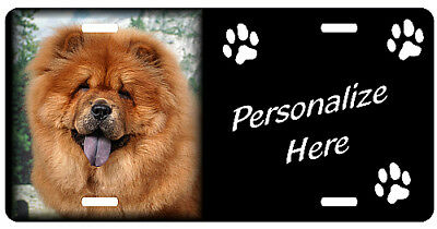 Chow Chow, red   Personalized Pet License Plate ( Gift