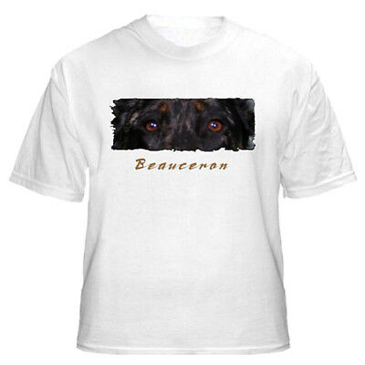 """Beauceron  """" The Eyes Have It """"   Custom Made   T shirt"""
