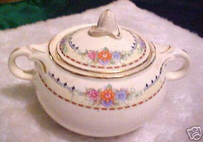 Vintage Taylor Smith Sugar Bowl Lid 6 42 5 Flowers TST