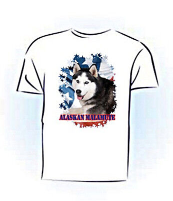 Alaskan Malamute  PERSONALIZED Stars & Stripes Custom  Pet  T shirt