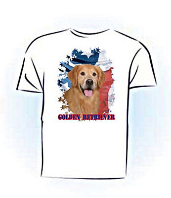Golden Retriever   Stars & Stripes  Custom  PERSONALIZED  Pet  T shirt