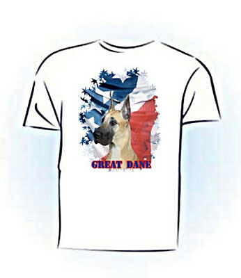 Great  Dane   cropped    Stars & Stripes    PERSONALIZED  Pet T shirt