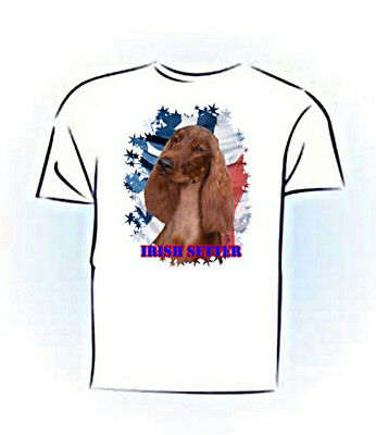 Irish Setter   Stars & Stripes   Custome  Pet  Tshirt
