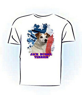 Jack Russell Terrier  Stars & Stripes Custom PERSONALIZED  Pet T shirt