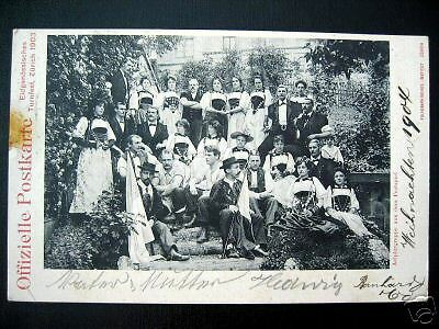 Switzerland~1903 ZURICH~Eidg. TURNFEST~Aelplergruppe~ !