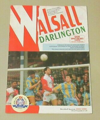 Walsall -v- Darlington 1993-1994