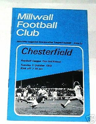 Millwall-v- Chesterfield 1972-1973