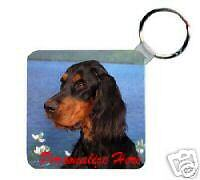Gordon   Setter        Personalized   Breed  Key  Chain