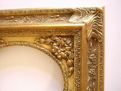 PICTURE FRAME- GOLD ORNATE OVAL OPENING- 8x10  #2212
