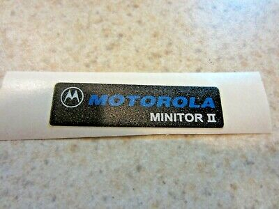 New Motorola Minitor II Name Plate Label