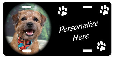 Border Terrier #1   Personalized  Auto License Plate