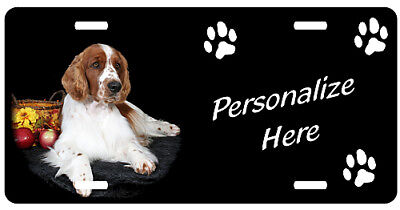 Welsh Springer Spaniel   Personalized    Auto License Plate