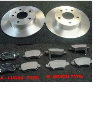 Vauxhall Astra 1998> Brake Discs & Pads Rear Mintex Abs