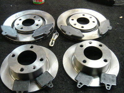 Xantia 2.0 HDi 110bhp 98-01 Rear Brake Discs Drilled Grooved Gold Edition