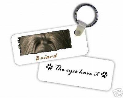 """Briard # 2  """" The Eyes Have It  """"  Key  Chain"""