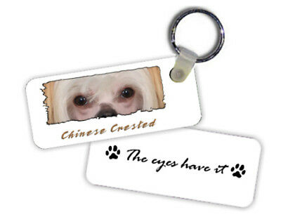 "Chinese Crested  #2  "" The Eyes Have It  ""   Key  Chain"