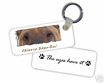 "Chinese  Shar Pei  fawn  ""  Eyes Have It  ""  Key  Chain"