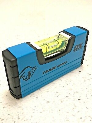 Ox Tools Trade 100mm (4in) Pocket Small Stubby Box Profile Spirit Level ,T502801