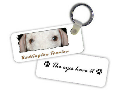 Bedlington Terrier  # 2  The  Eyes Have It   Key  Chain