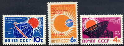 Russia 1964 Quiet Sun Year - Mint Complete Set Of Three