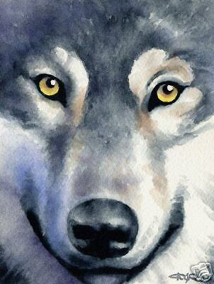 WOLF Wolves Painting ART Print 11 X 17 LARGE Signed DJR