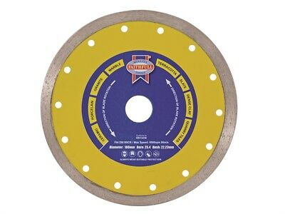 "FAITHFULL 7"" 180mm Tile Porcelain Cutting Diamond Blade"