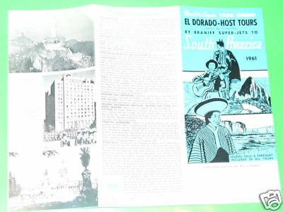 Braniff Airways El Dorado South America Tour 1961 broch